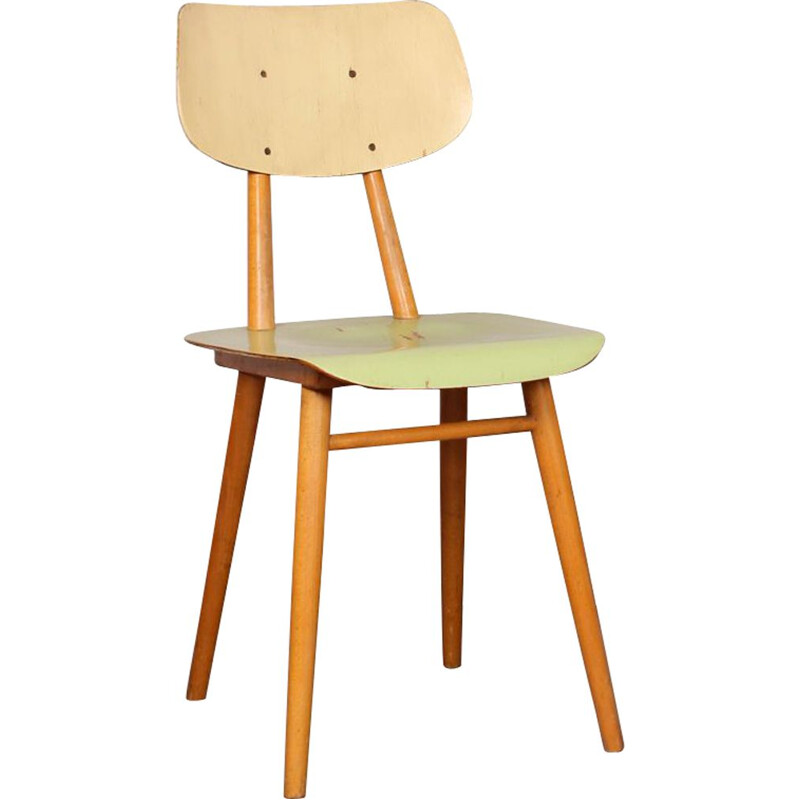 Vintage wooden chair by Ton, Czechoslovakia, 1960