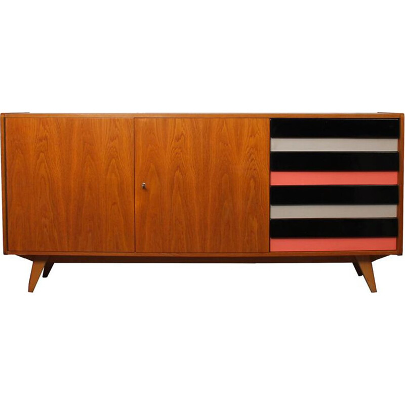 Vintage wooden chest of drawers by Jiri Jiroutek for Interier Praha, 1960s