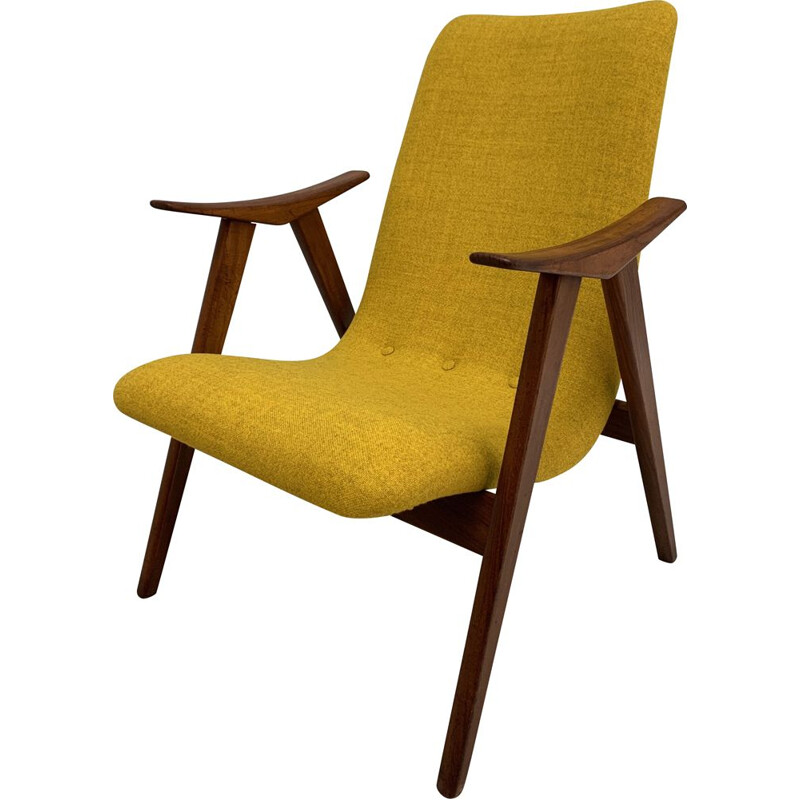 Vintage teak armchair by Louis van Teeffelen for WEBE, Netherlands, 1960