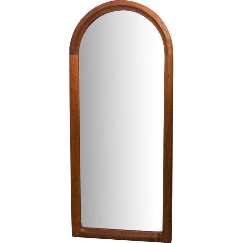 Vintage Teak wall mirror by Aksel Kjersgaard for Odder 1960s