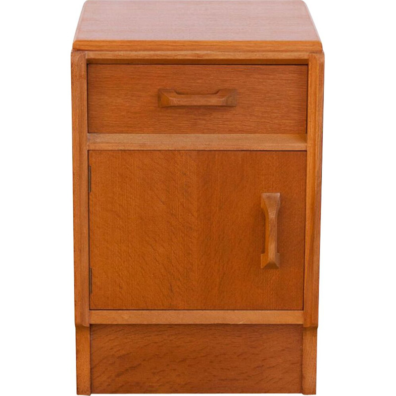 Vintage night stand in gilded oak by G-Plan 1950s