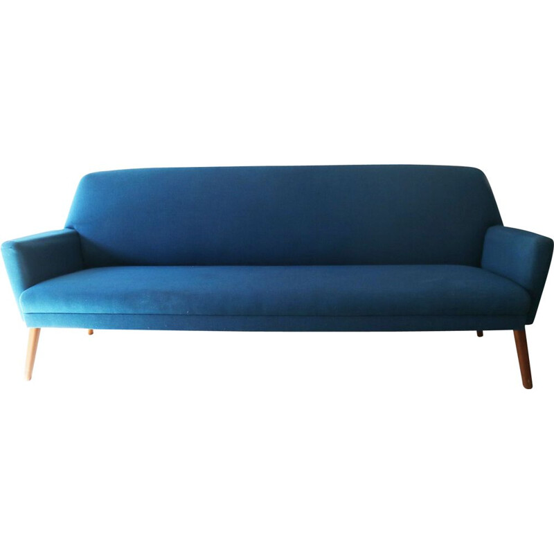 Vintage blue sofa by Dux, sweden 1960s