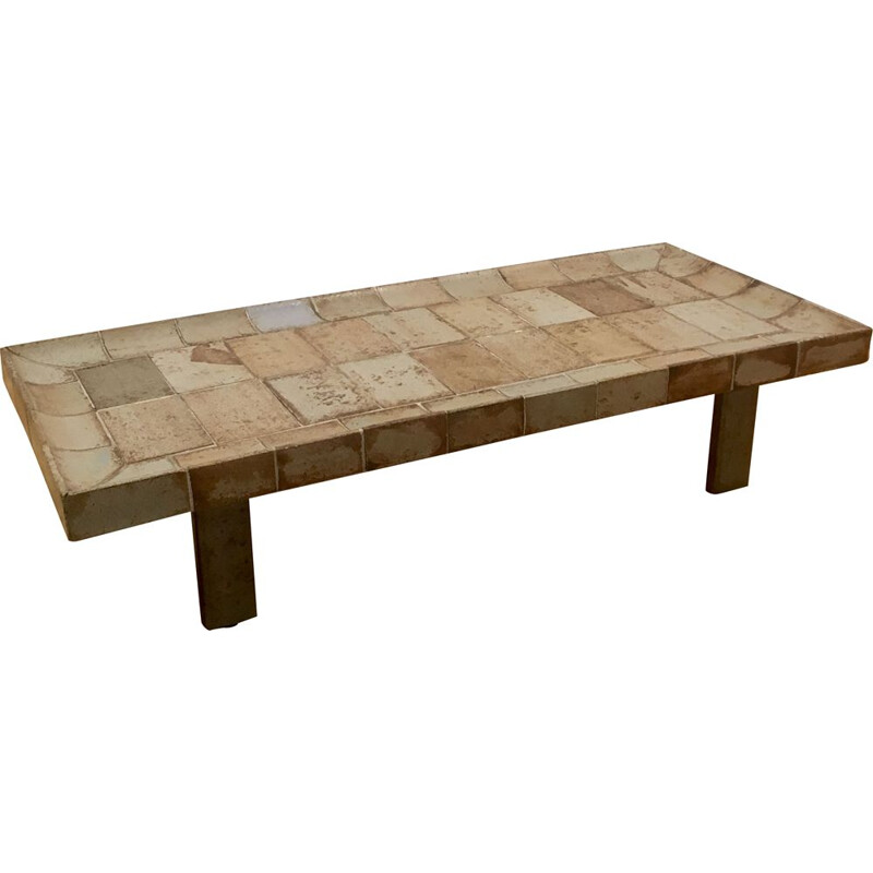 Rectangular coffee table by Roger Capron
