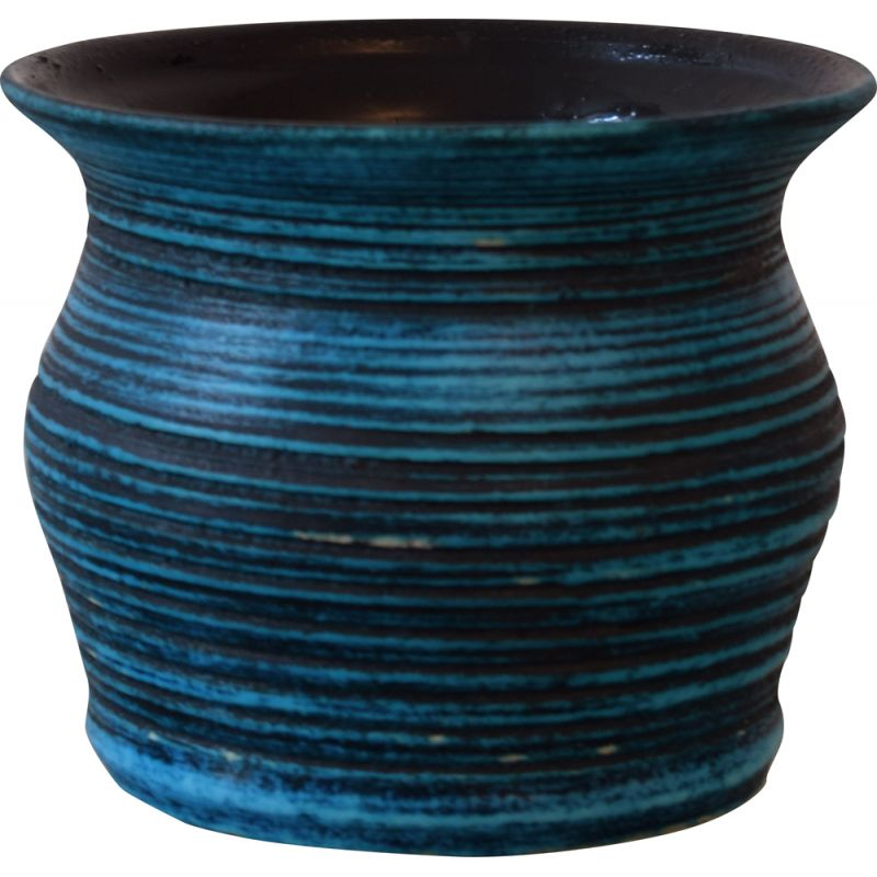 Vintage Accolay vase in blue sandstone