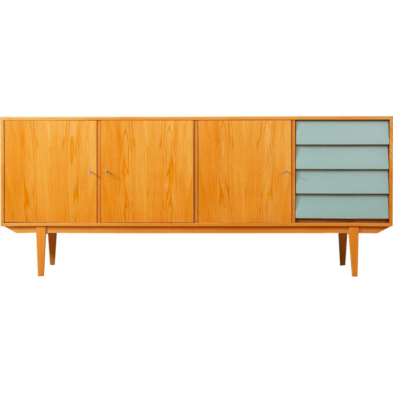 Vintage sideboard in formica and wood, Germany, 1950s