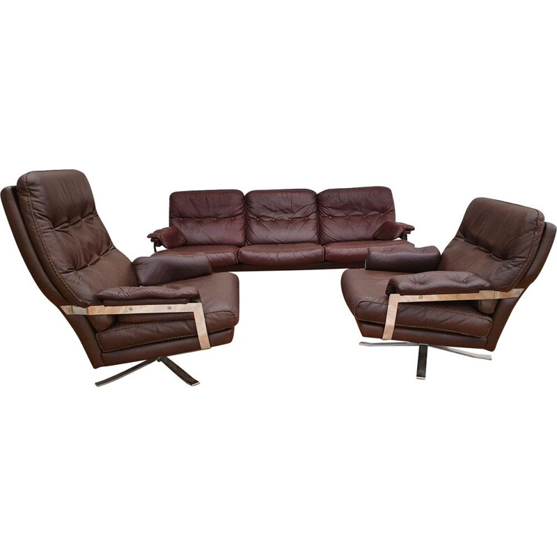 Vintage Sofa set by Arne Norell, Sweden 1970s