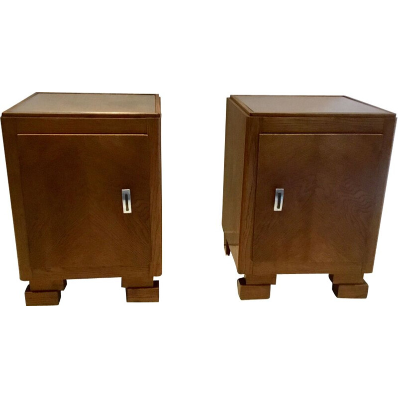 Pair of 2 vintage night stands