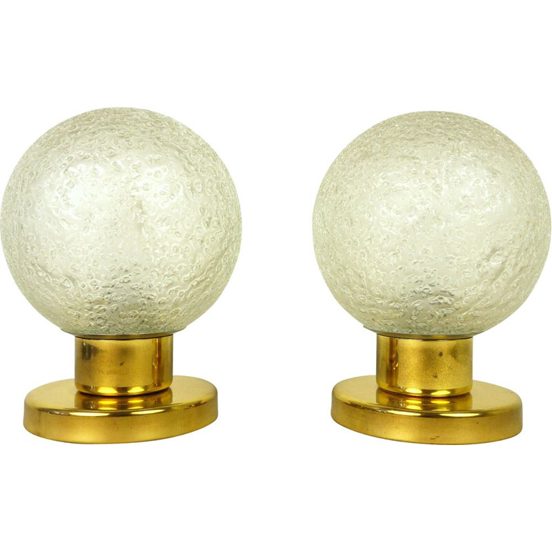 Vintage Pair of Brass Table Lamps from Doria Leuchten, Germany, 1960s