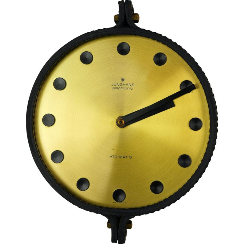 Vintage Wall Clock Electromechanical Ato-Mat S from Junghans, Germany, 1960s