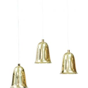 Set of 3 vintage hanging lamp by Boréns, 1950s
