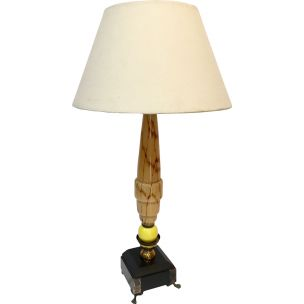 Vintage granite and marble table lamp with art deco design, 1930s
