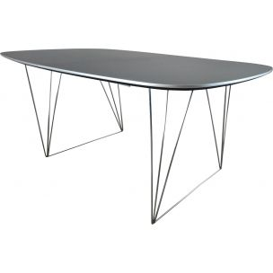 Vintage Danish dining table by Ganso Mobel, 1980s