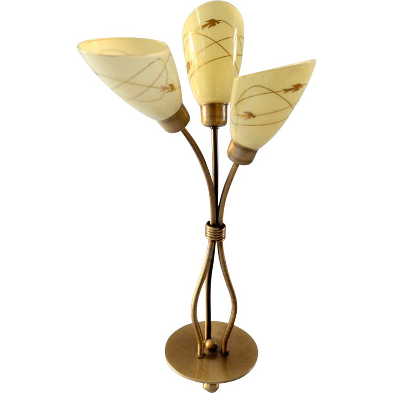 Vintage table lamp in brass 1950s
