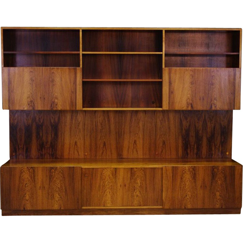 Vintage wall system by Ib Kofod Larsen in rosewood