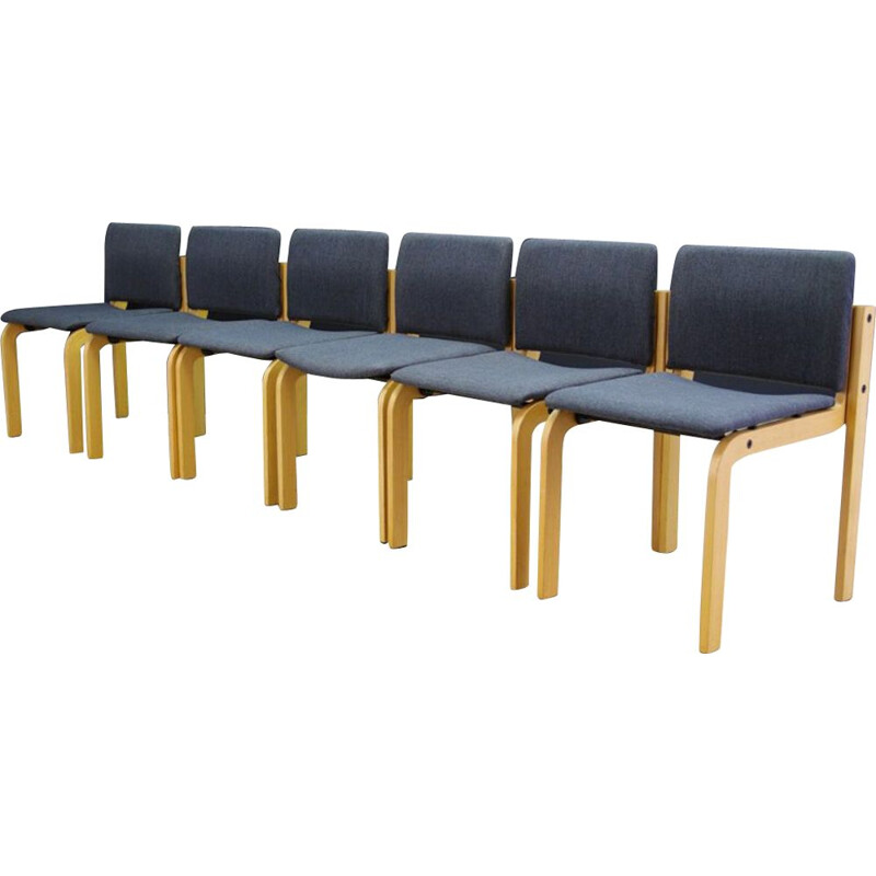 Set of 6 vintage chairs by Fritz Hansen, 1960s-1970s