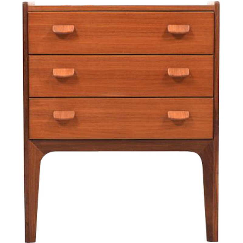 Vintage small chest of drawers by Poul Volther for FDB, Denmark, 1950s