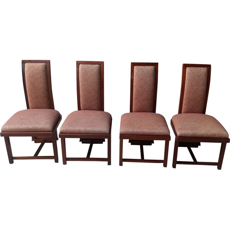 Set Of 4 Vintage Chairs Robie By Frank Lloyd Wright 1960s
