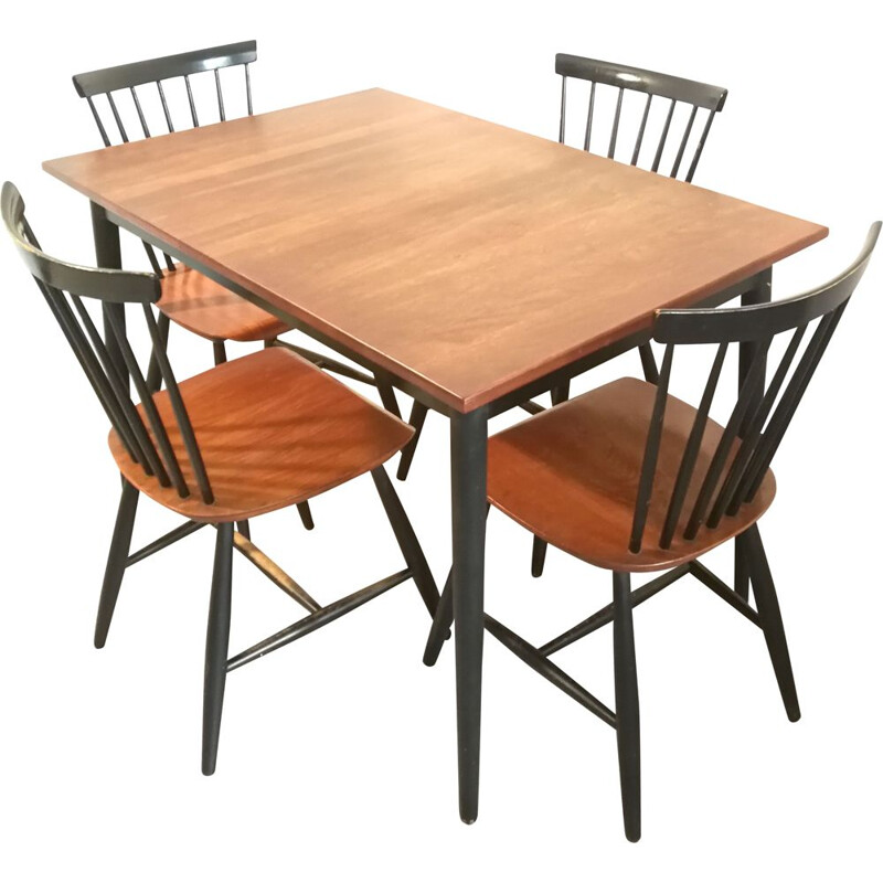 Vintage dining set by Tapiovaara, 1950s