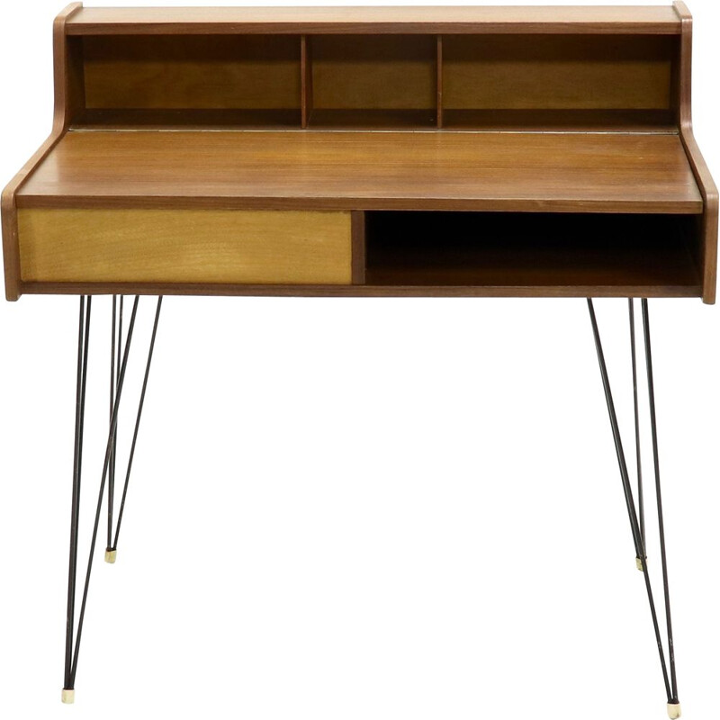 Vintage Dutch design hairpin desk, 1950s