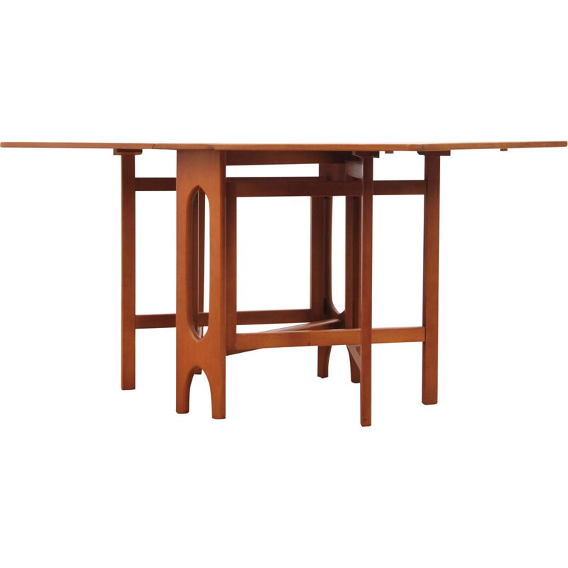 Vintage teak dining table with flaps