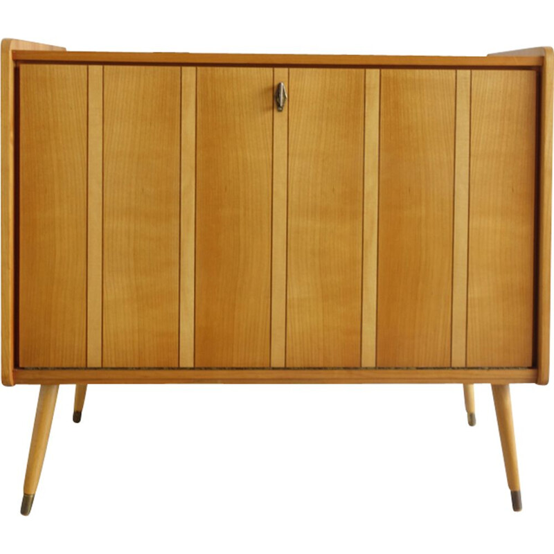 Vintage light wood sideboard 1950s