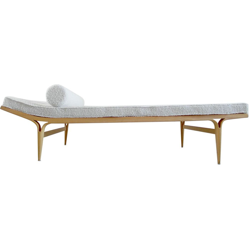Vintage birch wood daybed by Bruno Mathsson, Sweden, 1957