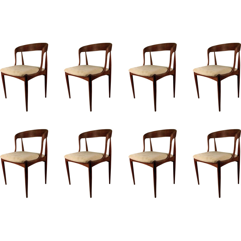 Set of 8 vintage dining chairs by Johannes Anderasen for Uldum Møbelfabrik, 1965