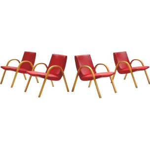 Set of 4 vintage chairs by Hugues Steiner for Steiner
