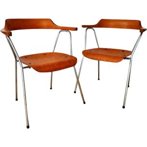 Pair of vintage chairs 4455 by Niko Kralj by Stol Kamnik 1955