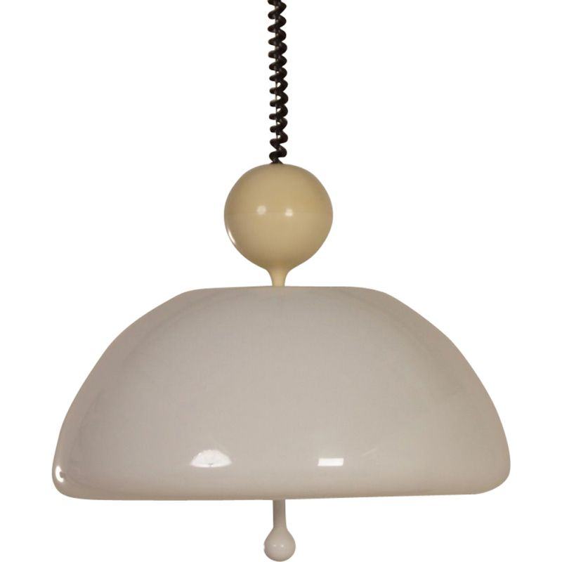 Vintage Hanging Lamp model 1700 Saliscendi by Elio Martinelli for Martinelli Luce Italy 1970s