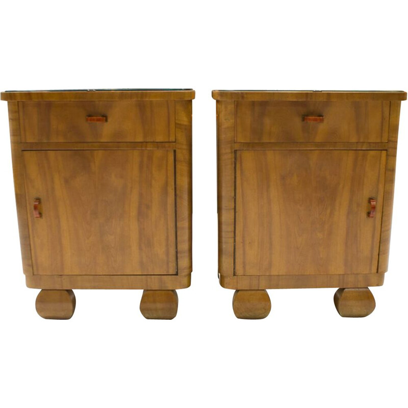Pair of Art Deco Austrian Night Stands, 1930s