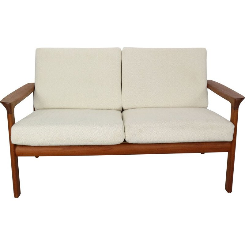 Vintage Danish 2-Seat Sofa in Teak  by Sven Ellekaer for Komfort, Denmark 1960s
