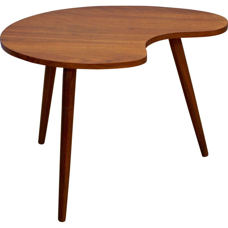Danish kidney-shaped sidetable in teak, 1960
