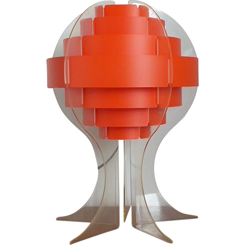 Vintage table lamp designed by Preben Jacobsen & Flemming Brylle, 1970s