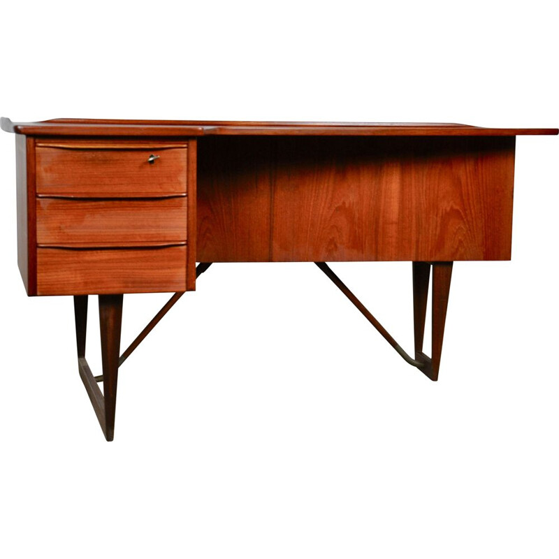 Boomerang vintage desk by Peter Løvig Nielsen for Løvig, 1950s
