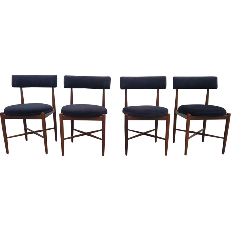 Set of 4 vintage dining chairs in teak by Kofod Larsen for G-Plan, 1960s