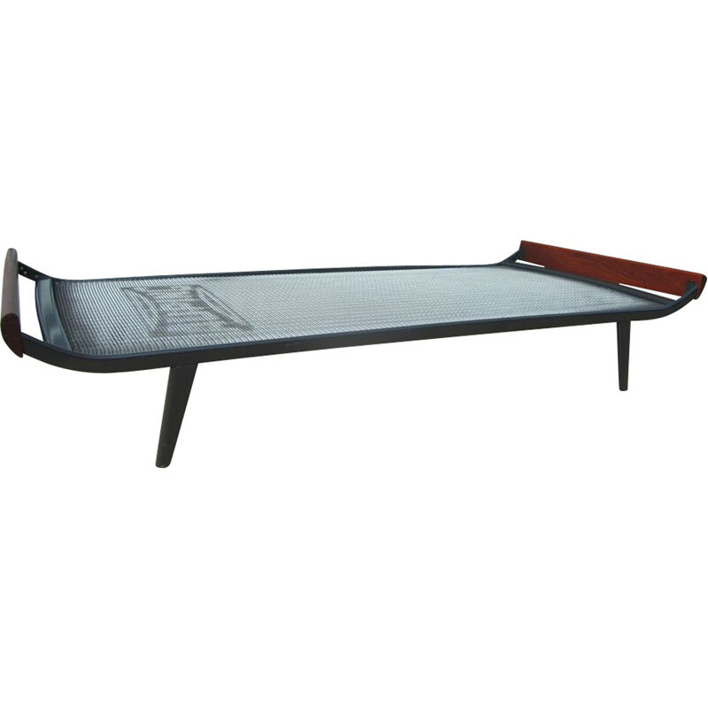 Auping teak and metal Cleopatra daybed, Dick CORDEMEIJER - 1960s