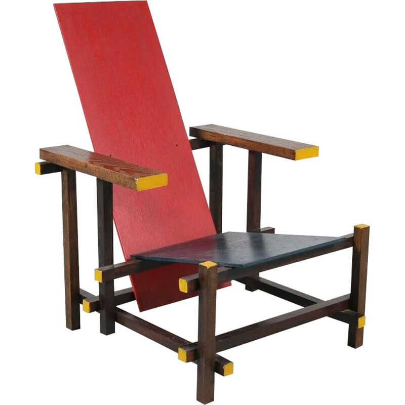 Rietveld chair manufactured in the Netherlands 1970s