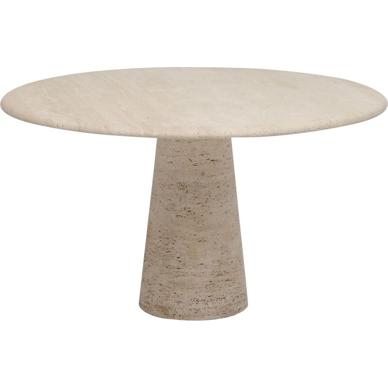 Vintage Up&Up travertine dining table 1970