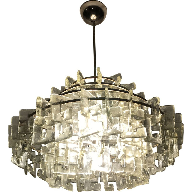 Vintage chandelier by Carlo Nason by Mazzega 1960