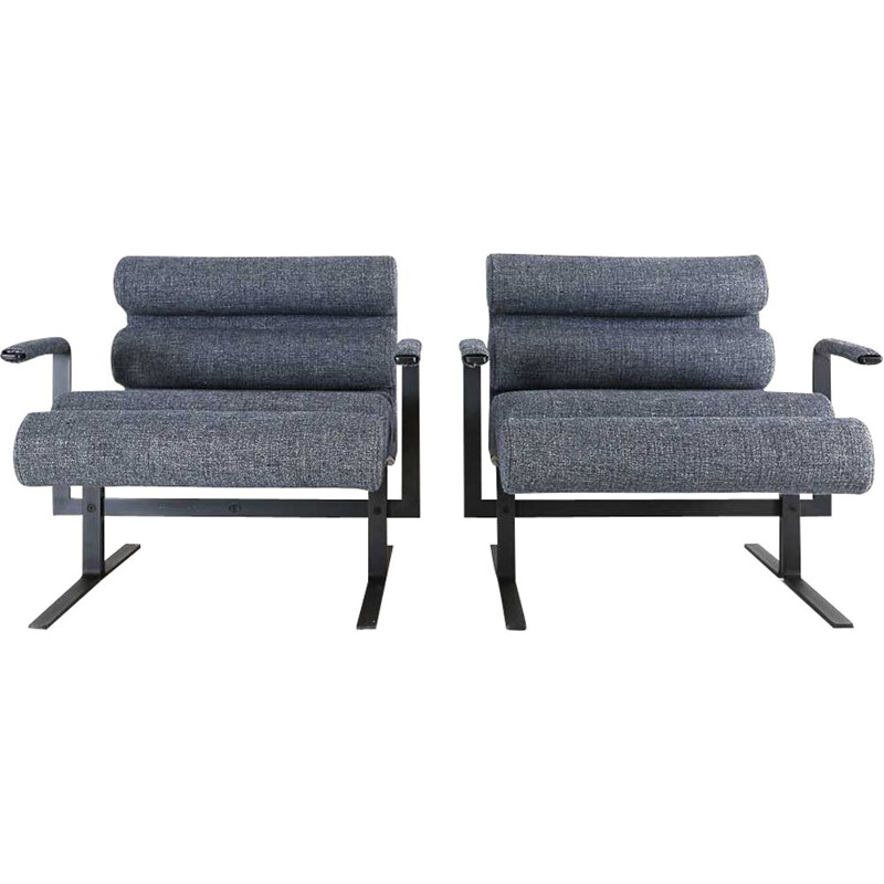 Vintage pair of Roll chairs by Joe Colombo 1964