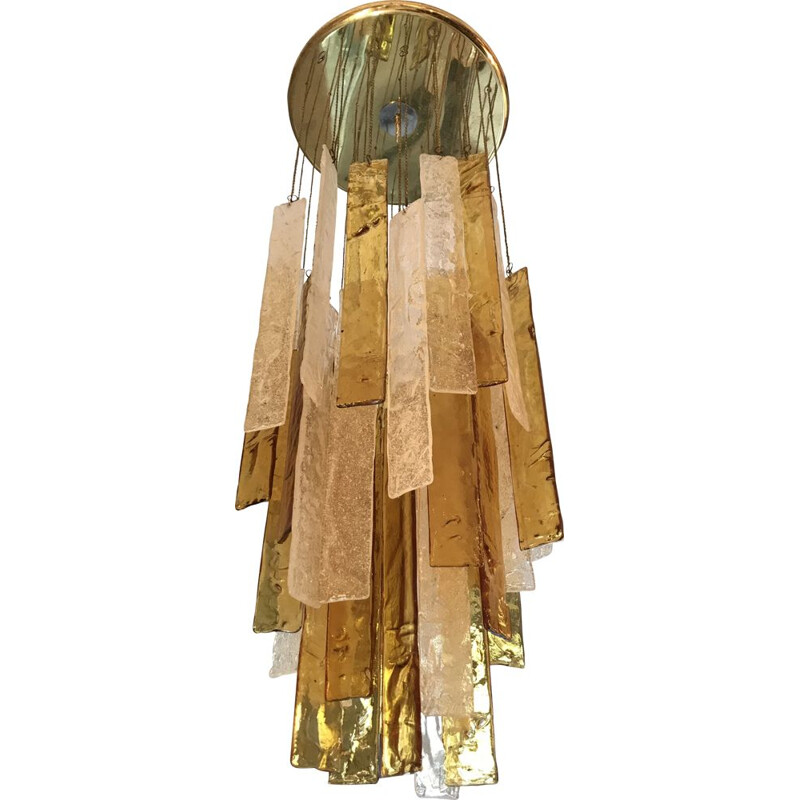 Vintage chandelier by Mazzega, 1960s
