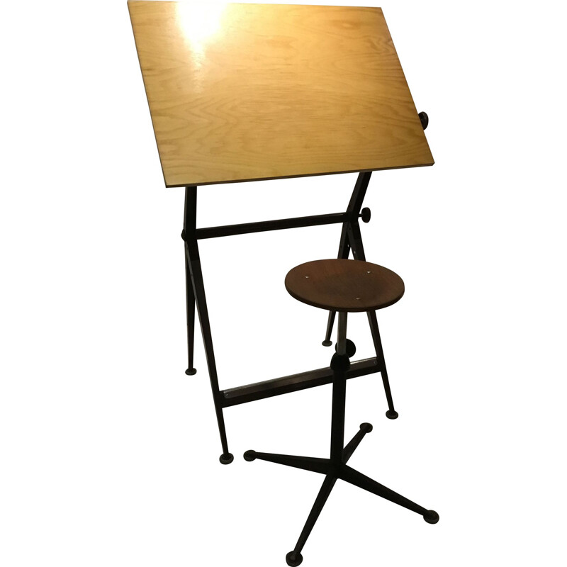 Vintage drawing Table by Friso Kramer for Ahrend de Cirkel, 1960