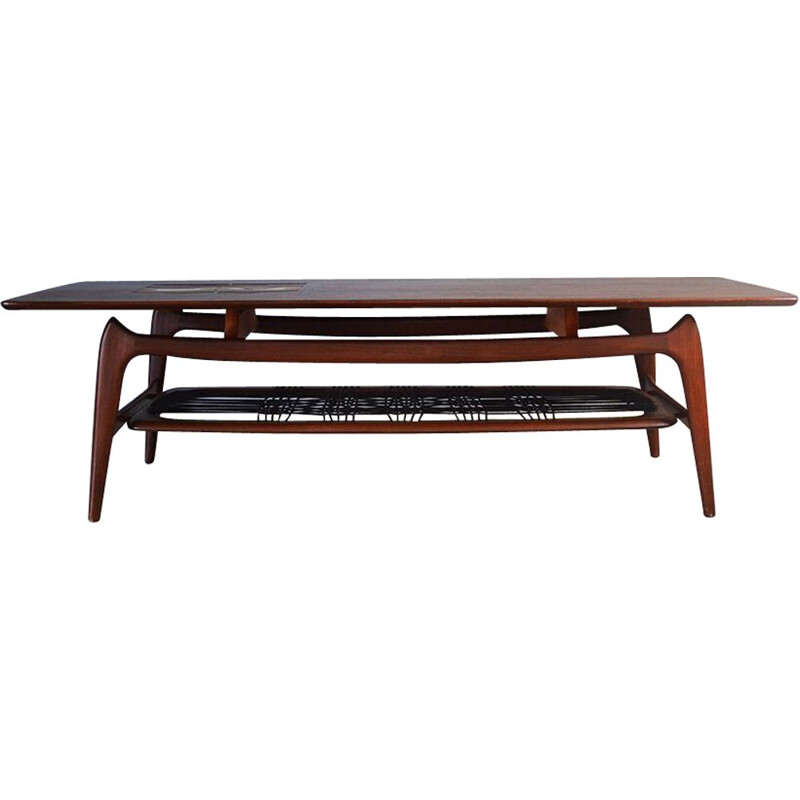 Vintage Teak Coffee Table by Louis Van Teeffelen for Webe, 1950s