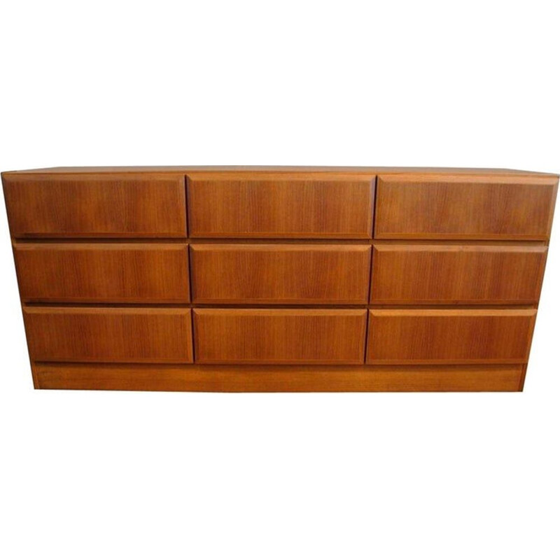 Vintage teak chest of drawers by Arne Wahl Iversen for Vinde Mobelfabrik, Denmark 1960s