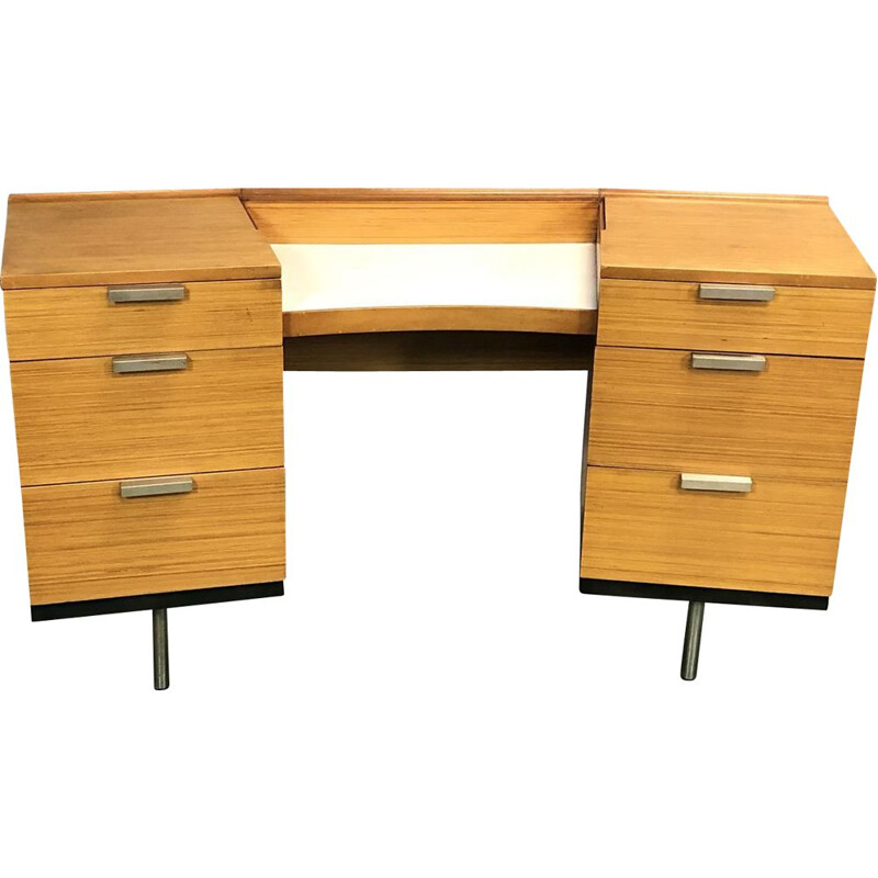 Vintage desk in blond mahogany 1970s