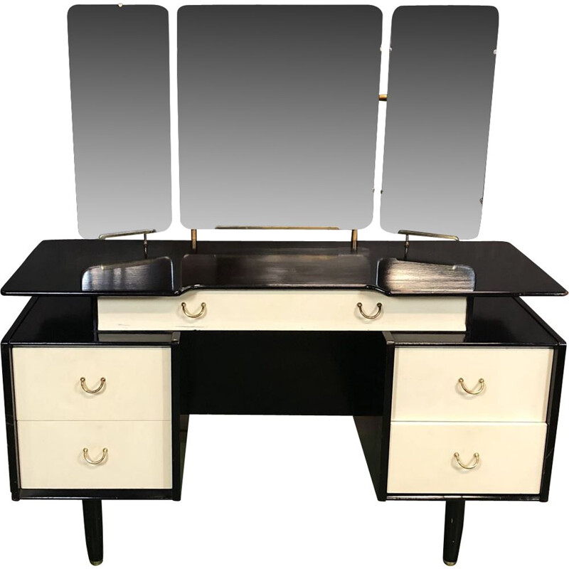 Vintage black and white Dressing table by G Plan, 1970s