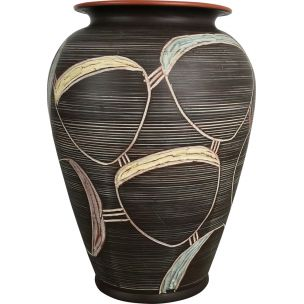 Vintage Abstract Ceramic Pottery Vase by Sawa Franz Schwaderlapp, Germany, 1950s