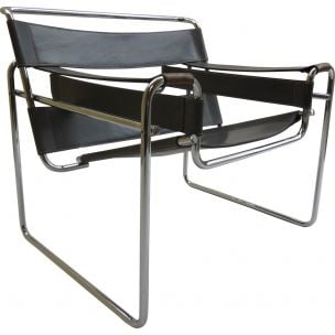 Grey vintage Wassily armchair by Marcel Breuer, 1980s