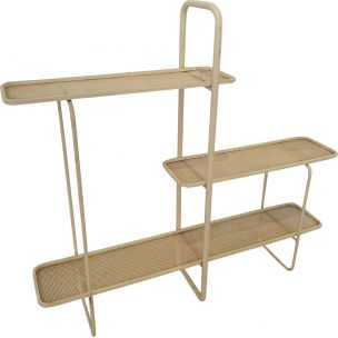 Vintage shelf with three trays by Mathieu Mategot, 1950s